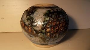 6 vase boule h 15 dia 5